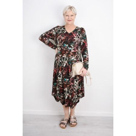 Sahara Leaf Print Jersey Dress - Multicoloured