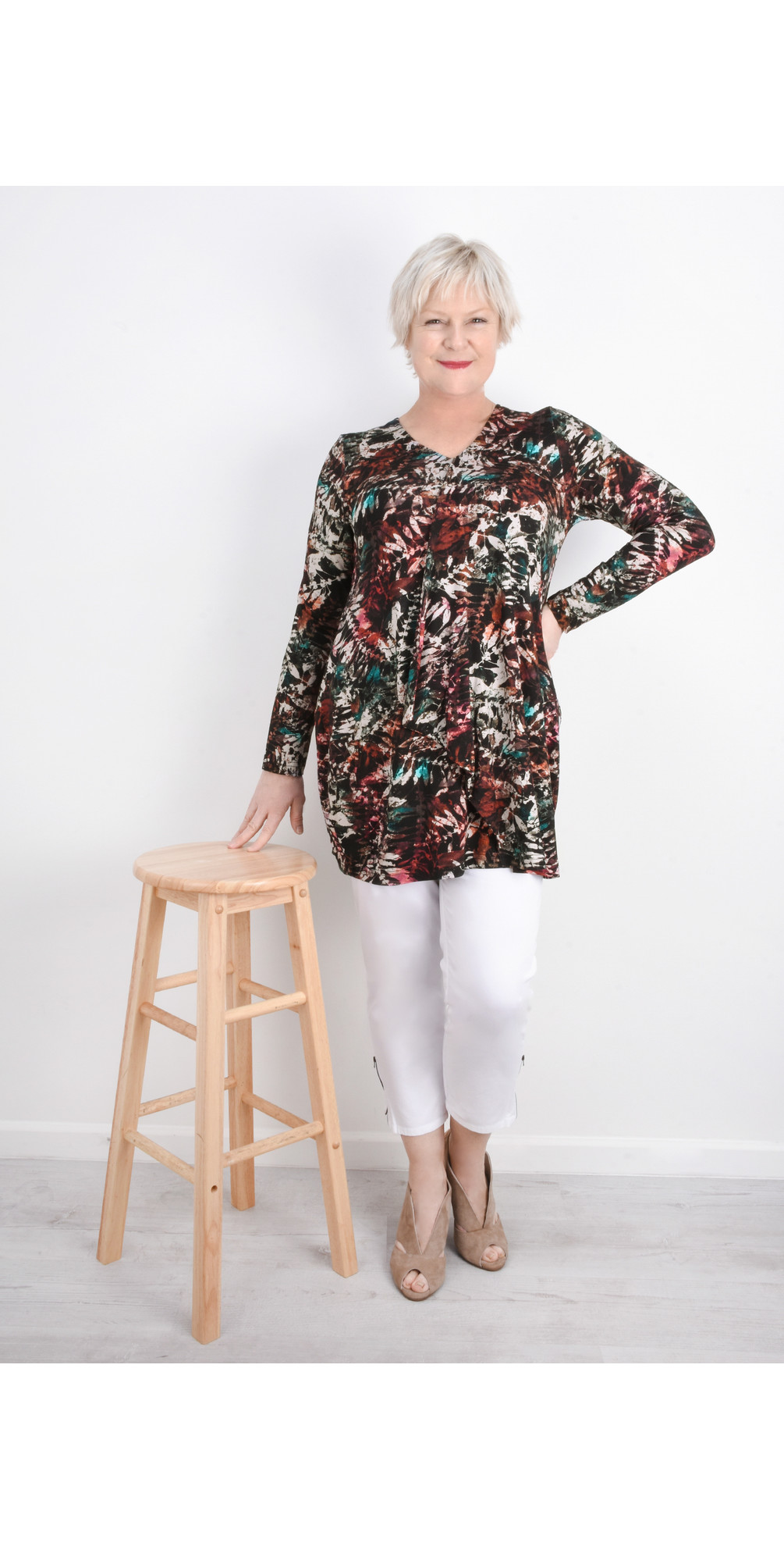 Leaf Print Jersey Tunic main image