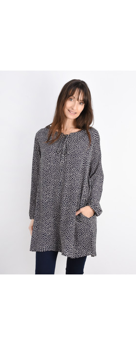 Masai Clothing Gena Spot Tunic Navy Org