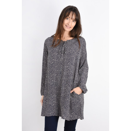 Masai Clothing Gena Spot Tunic - Blue