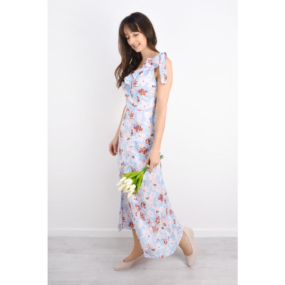 Great Plains Tulum Floral Maxi Dress Powder Blue Multi Combo