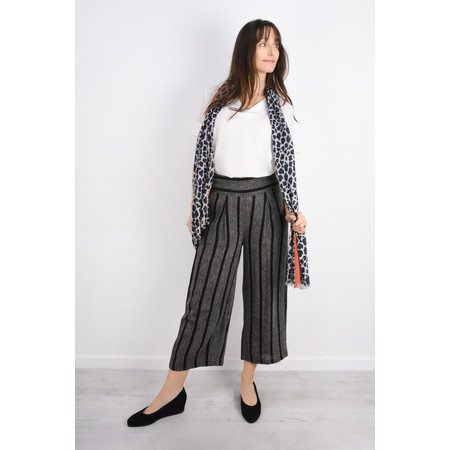 Masai Clothing Pusna Stripe Culotte - Black