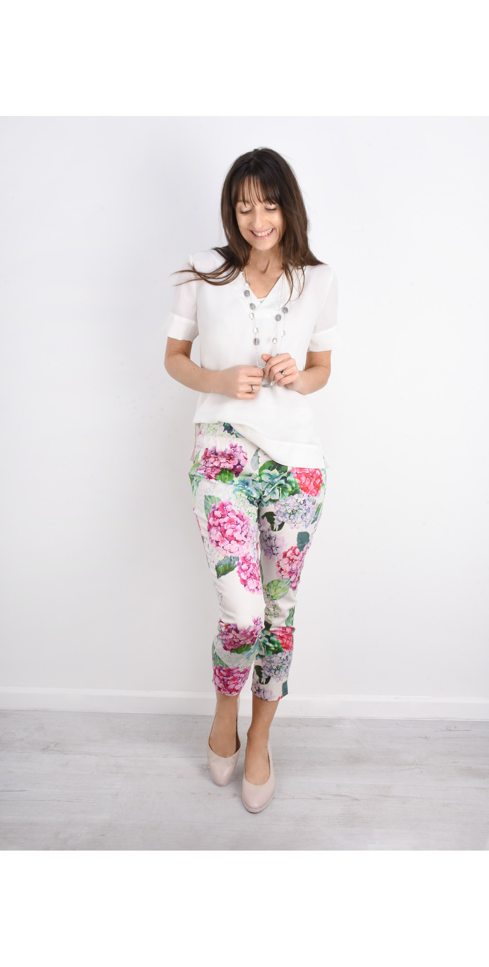 Printed Capri Trousers main image