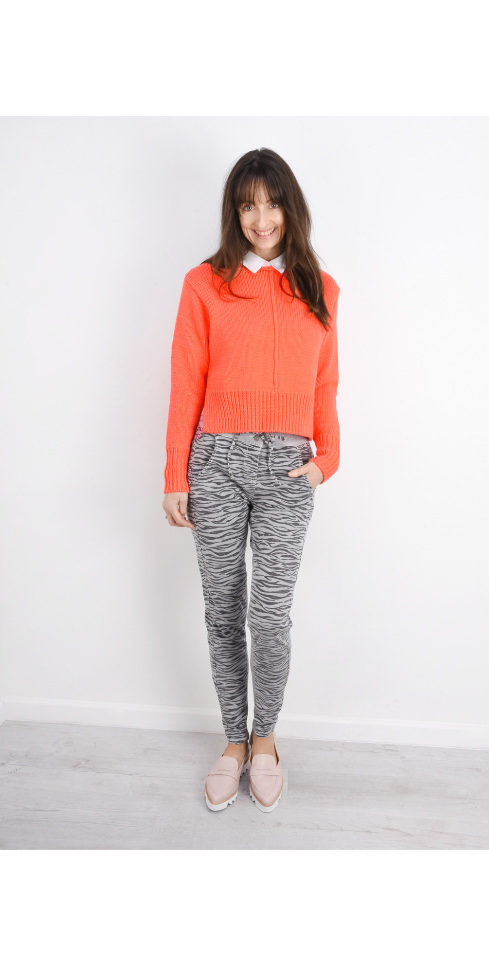 Side Split Cotton Jumper main image