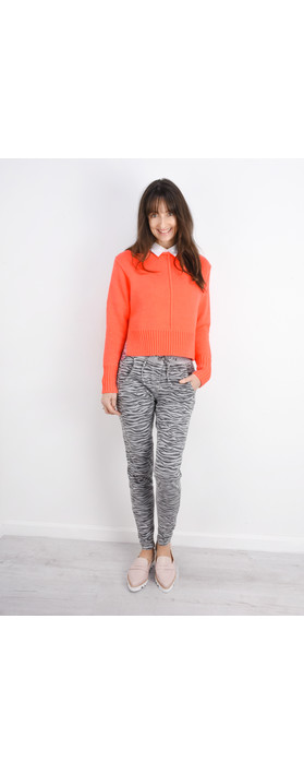 Sandwich Clothing Side Split Cotton Jumper Neon Coral