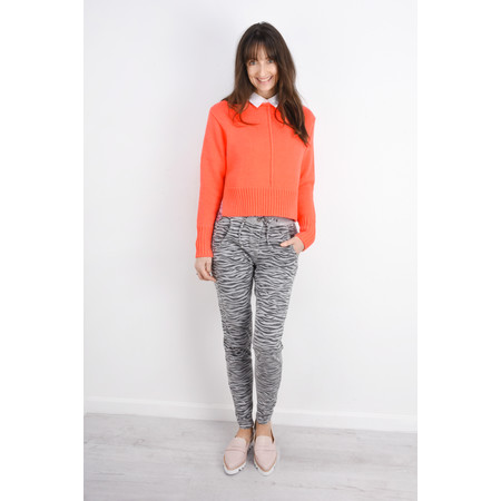 Sandwich Clothing Side Split Cotton Jumper - Orange