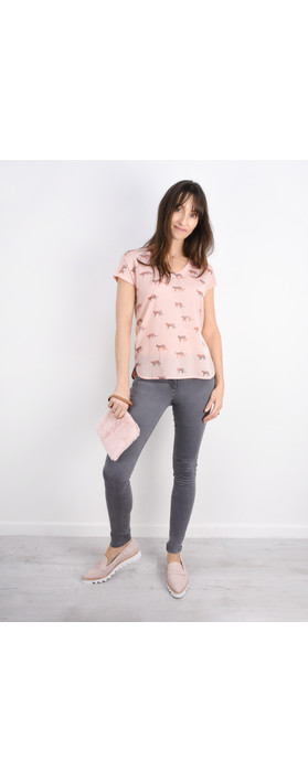 Sandwich Clothing Animal Top Washed Rose