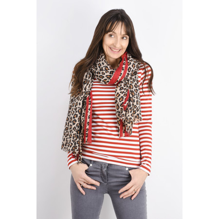Sandwich Clothing Organic Cotton Stripe Top - Red