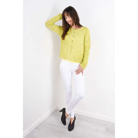 Sandwich Clothing Two Colour Knit Cardigan - Yellow