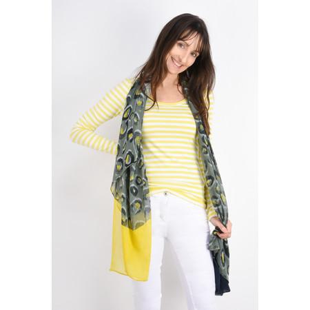 Sandwich Clothing Victoria Weave Leopard Scarf - Green