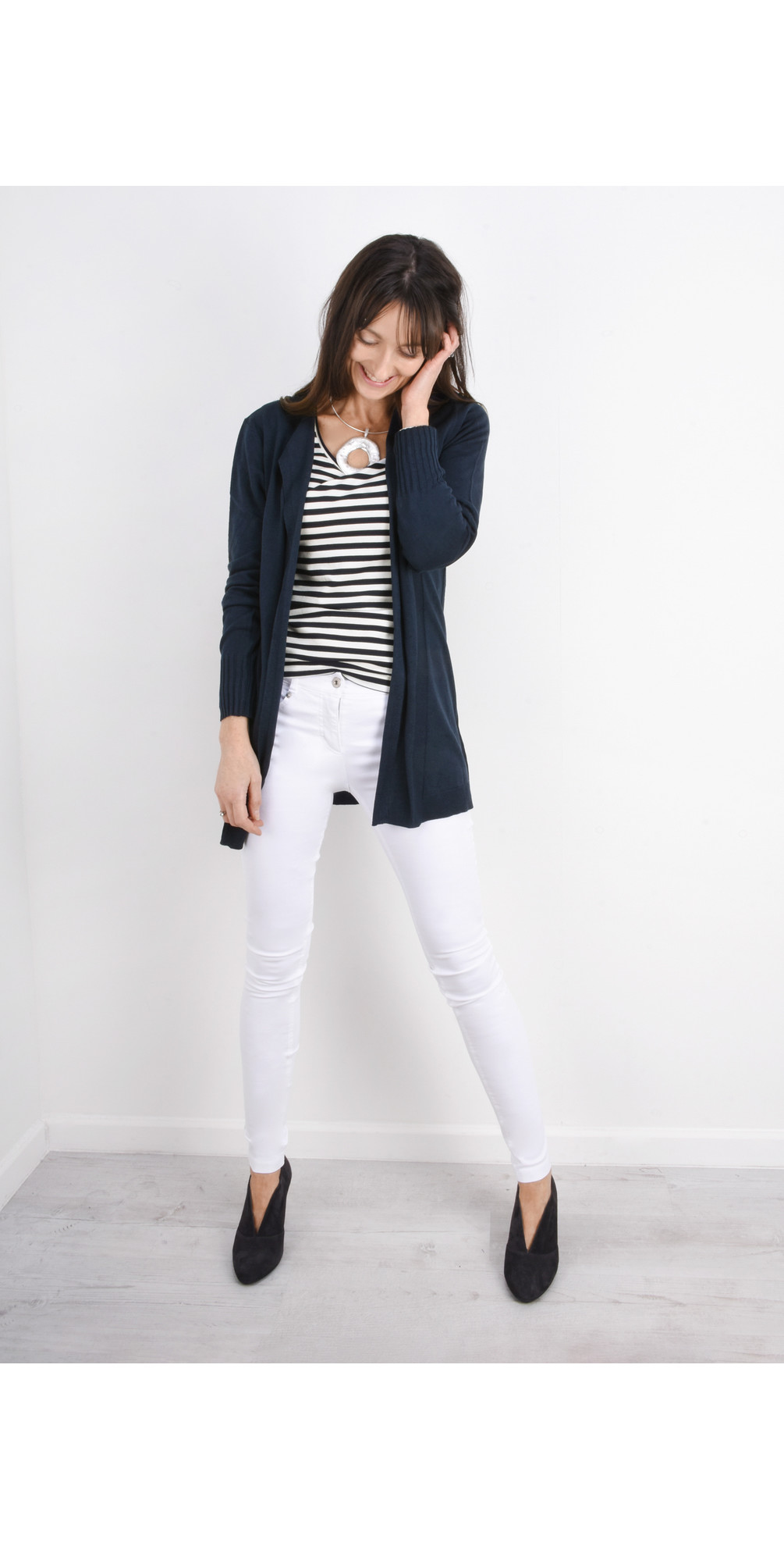 Long Open Thin Knit Cardigan main image