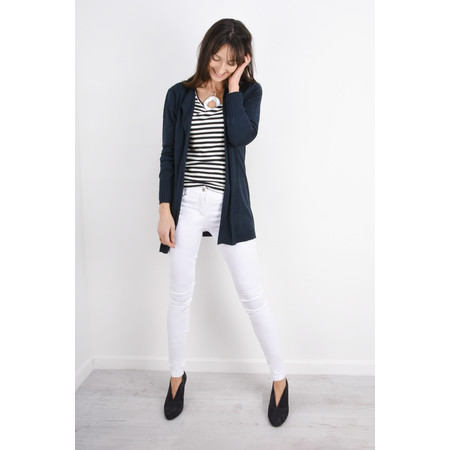 Sandwich Clothing Long Open Thin Knit Cardigan - Blue