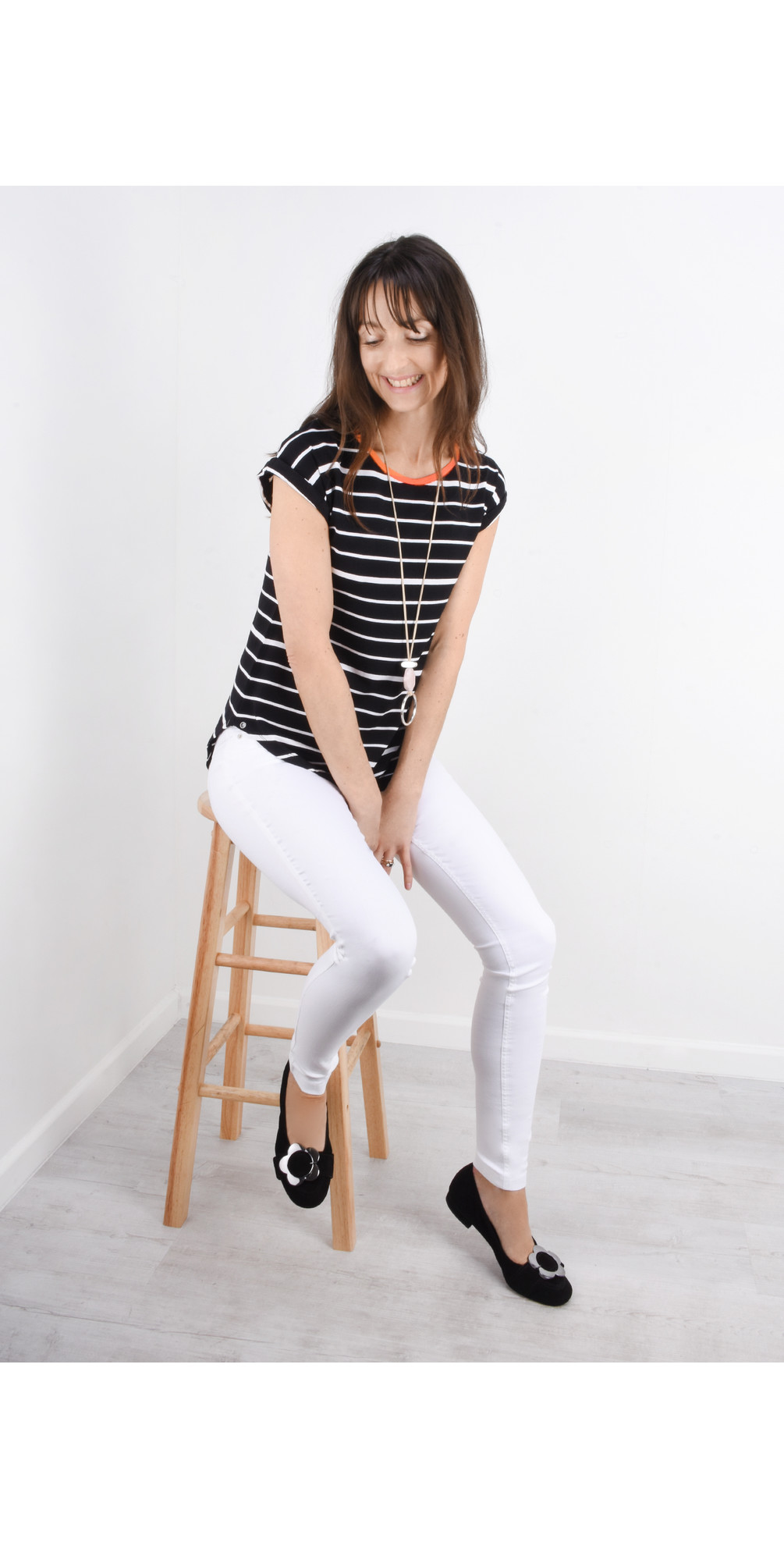 Soft Focus Striped T-Shirt main image