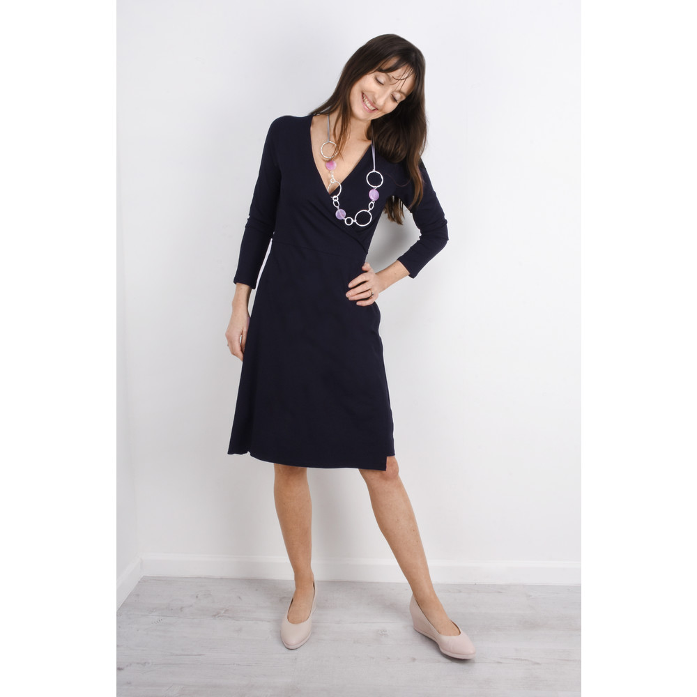 Masai Clothing Neba Wrap Dress Navy