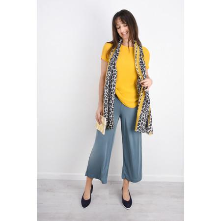 Gemini Label  Leni Leopard Scarf - Yellow