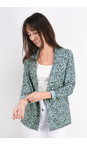 Sandwich Clothing Mineral Blue French Terry Cheetah Blazer