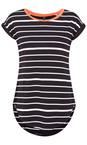 Foil Black/White Soft Focus Striped T-Shirt