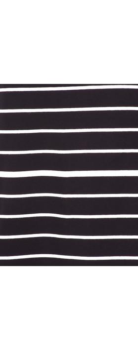 Foil Soft Focus Striped T-Shirt Black/White