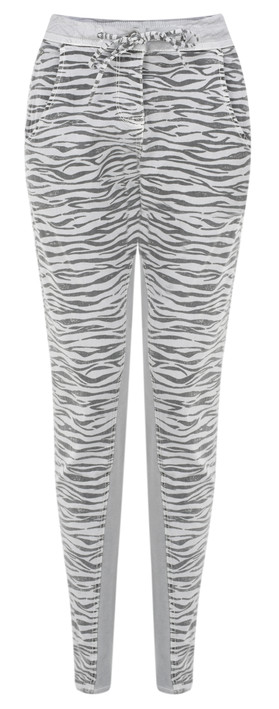 Sandwich Clothing Zebra Print Casual Trouser Pale Sky