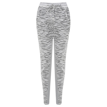 Sandwich Clothing Zebra Print Casual Trouser - Blue