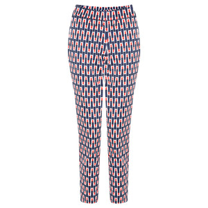Foil Printed Capri Cropped Trousers