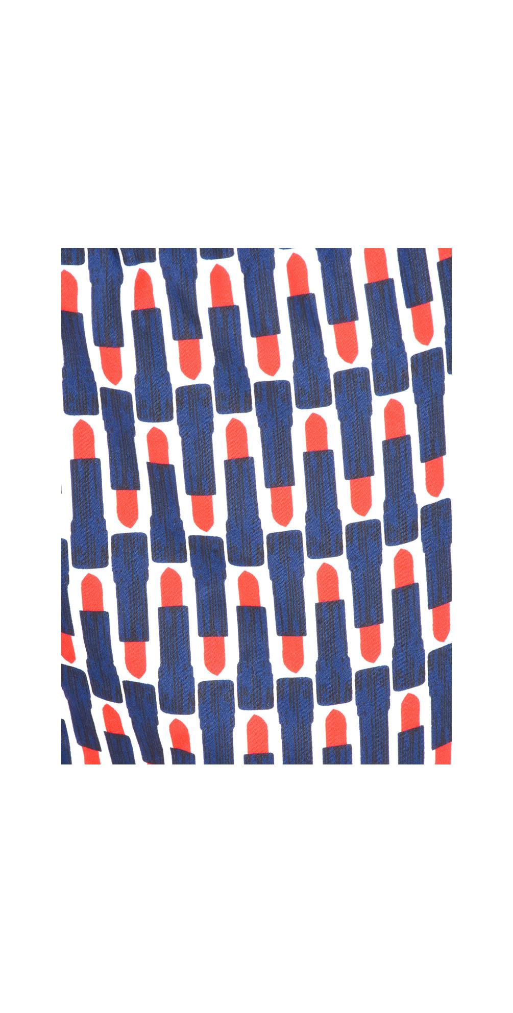 Printed Lipstick Capri Trousers main image