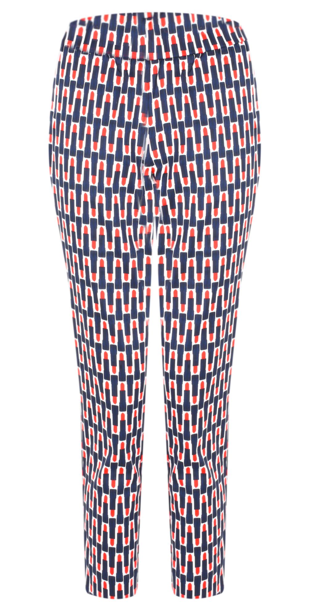 Printed Capri Cropped Trousers main image