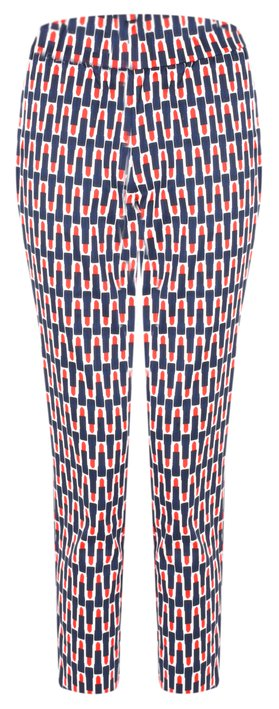 Foil Printed Capri Cropped Trousers Lippy Ink