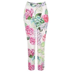 Foil Printed Capri Trousers