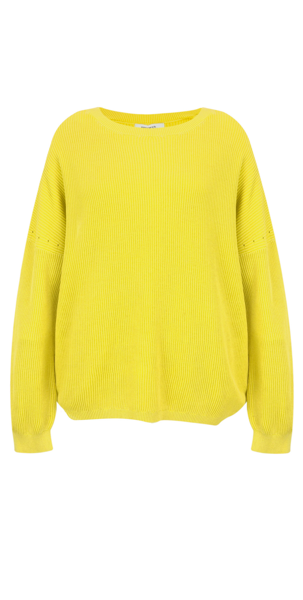 d18b82f6046eef Sandwich Clothing Batwing Rib Knit Jumper in Warm Yellow