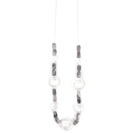 Eliza Gracious Dafina Circle Stone Bead Necklace - Blue