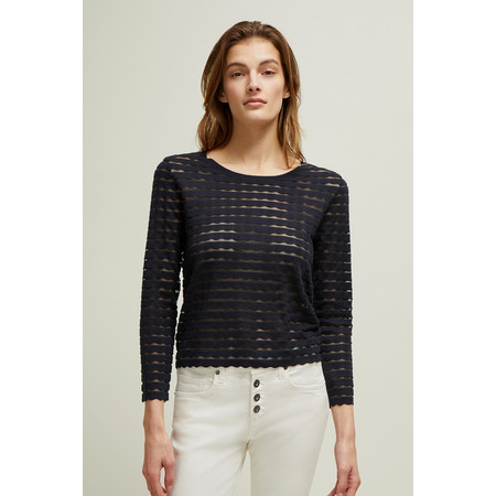 Great Plains Sunday Scallop Jumper - Blue