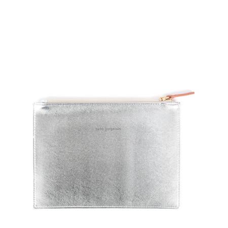 Caroline Gardner Slogan Zip Pouch - Metallic