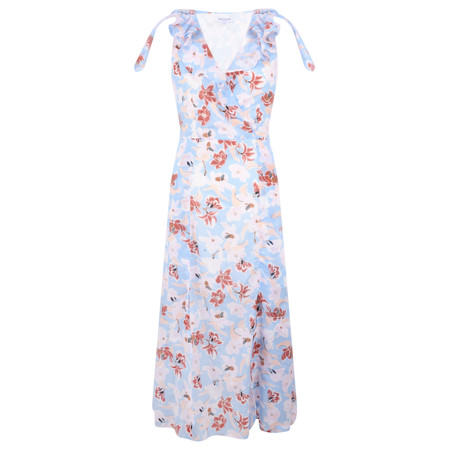 Great Plains Tulum Floral Maxi Dress - Blue