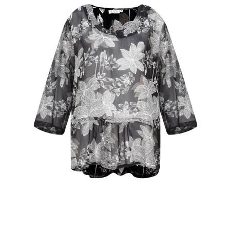 Masai Clothing Damiti Lace Floral Top - Black