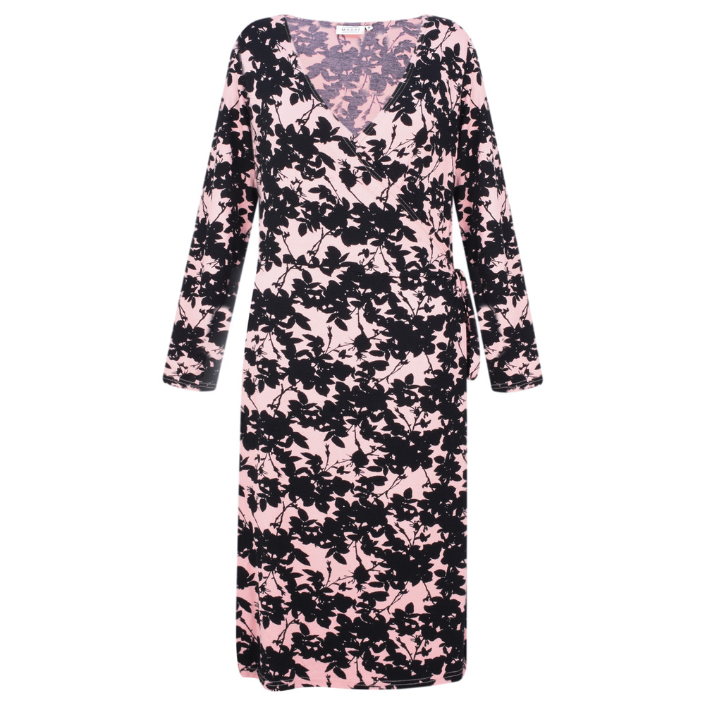 Masai Clothing Neba Floral Wrap Dress Rosetan