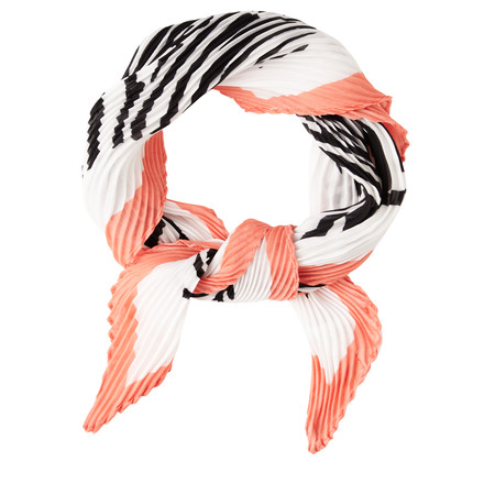 Sandwich Clothing Square Abstract Animal Becky Scarf - White