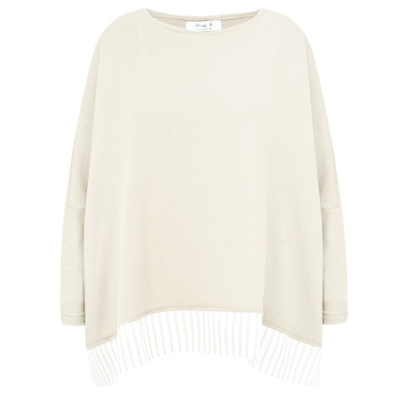 Mama B Bamboo Fleece Top - Off-White