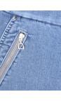 Robell Light Denim 62 Nena 09 Light Denim Ankle Zip Cropped Powerstretch Jean