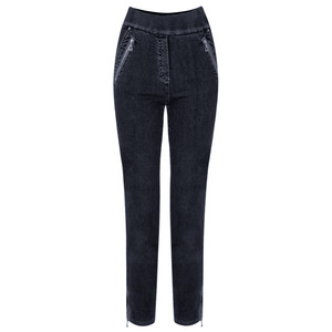 Robell Trousers Nena 09 7/8 Ankle Zip Cropped Jeans