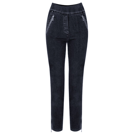 Robell Trousers Nena 09 7/8 Ankle Zip Cropped Jeans - Blue