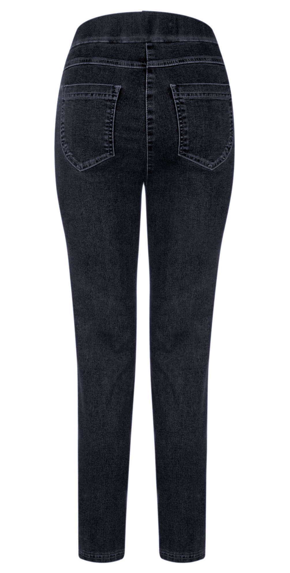 Nena 09 Navy Ankle Zip Cropped Powerstretch Jean main image