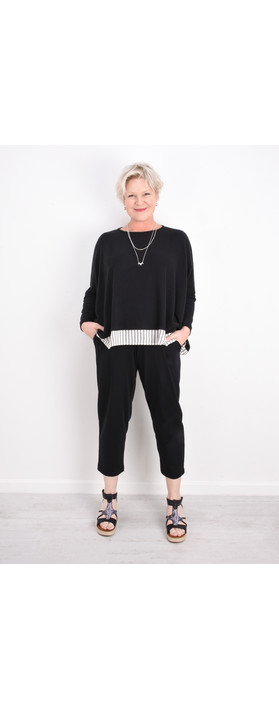 Mama B Bamboo Fleece Top Nero