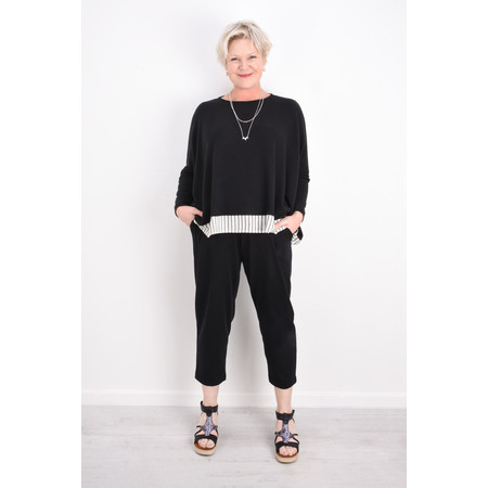 Mama B Bamboo Fleece Top - Black