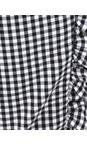 Robell Black 90 Rose 09 7/8 Gingham Frill Cropped Trouser