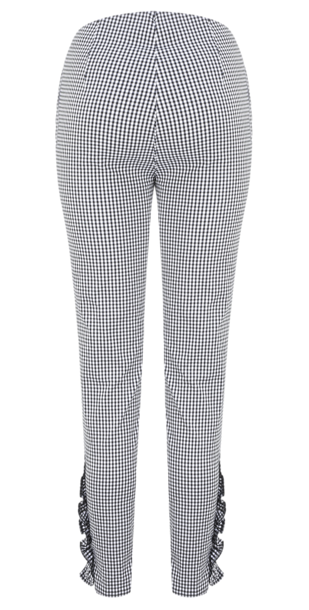 Rose 09 7/8 Gingham Frill Cropped Trouser main image