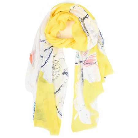Butterfly Hudie Fiona Floral Print Scarf - Yellow