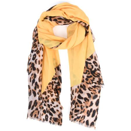 Butterfly Hudie Pretty Leopard Print Scarf - Yellow