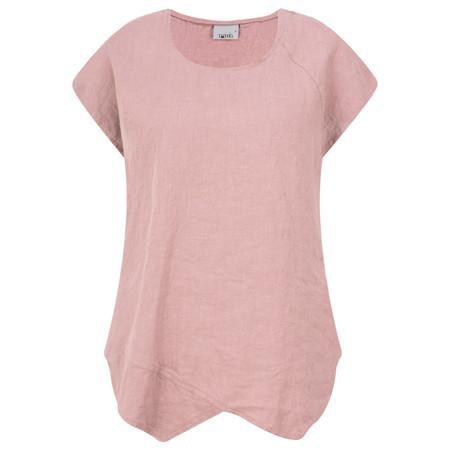 Thing Linen Asymmetric Hem Top - Pink