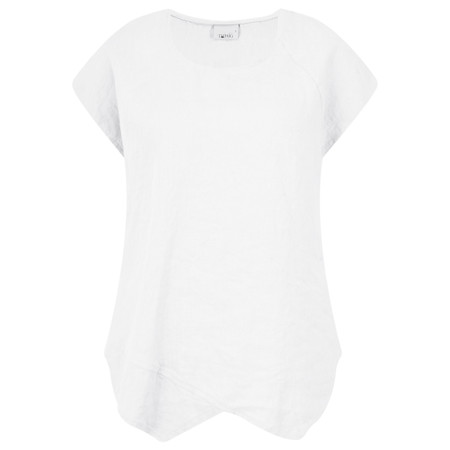 Thing Linen Asymmetric Hem Top - White